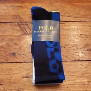NEW - POLO R.L. Crew Socks....3 Pairs